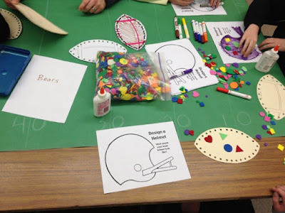Football crafts - special education super bowl party