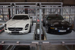 Mercedes SLS AMG and Bmw Z8