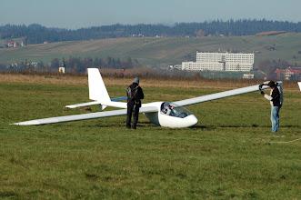 Photo: w kabinie pilot testowy ULC Jacek Marszałek