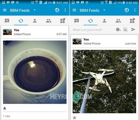 Terbaru biar muncul di BBM feeds sebagai recent update sanggup mengikuti langkah berikut ini 2 Cara Upload Foto di Status BBM Android Terbaru