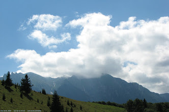 Photo: Saua Grecului: Bucegii in nori