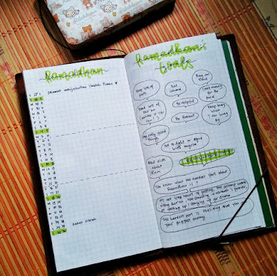 bujo indonesia ramadan setup ideas