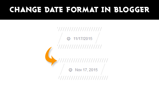 Change Date Format of Posts in Blogger