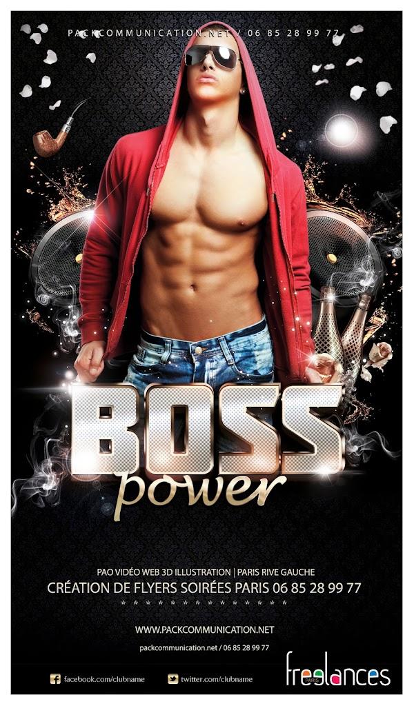création flyers soirées thème Boss Power