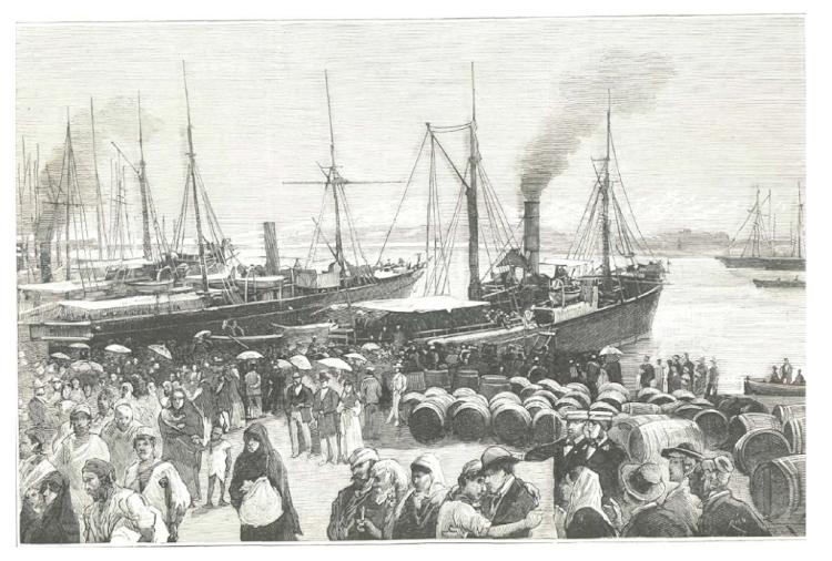 El CORREO DE CARTAGENA y el BESOS en Cartagena con refugiados de Oran. La Ilustración Española y Americana. Remitida por jaime Pons. Nuestro agradecimiento.png