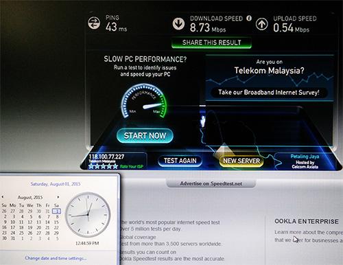 1-8-15 Speedtest.net