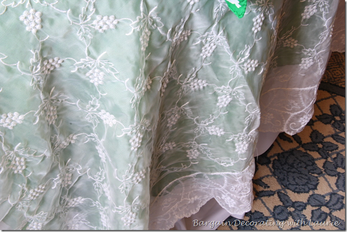 Lace Tablecloth on St. Patrick's Day Table