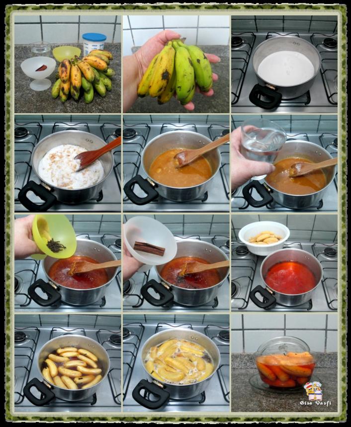 Doces de bananas maçã ou ouro