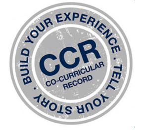 Descriptive Text: CCR Logo - Build Your Experience. Tell Your Story. CCR Co-Curricular Record