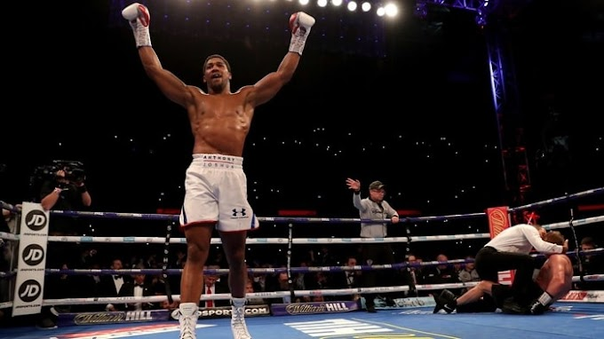 Boxer Of Life!! Anthony Joshua Knocks Out Povetkin To Retain His Heavyweights Titles (Watch Video)