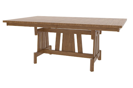 "80"" x 42"" Shenzen Table in Mahogany Quarter Sawn Oak"