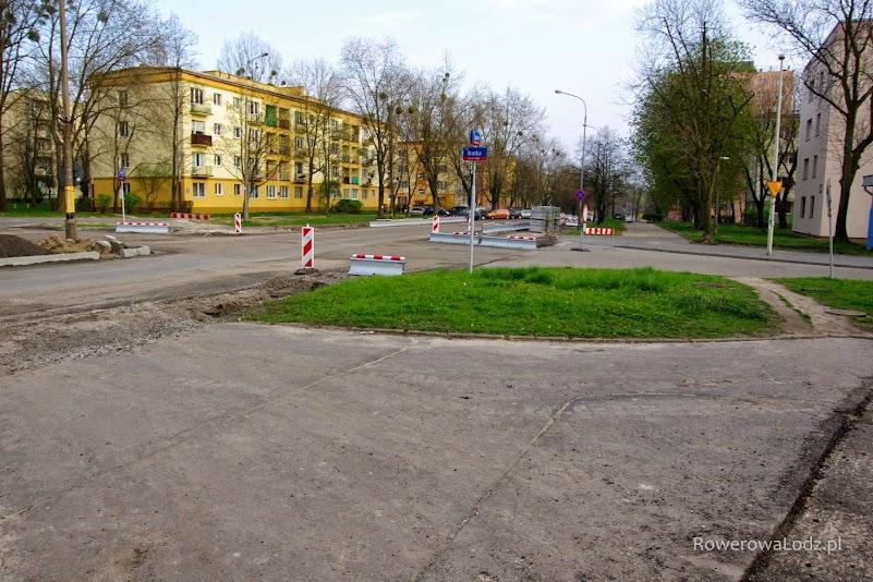 Skrzyżowanie ul. Zagajnikowej z ul. Bracką