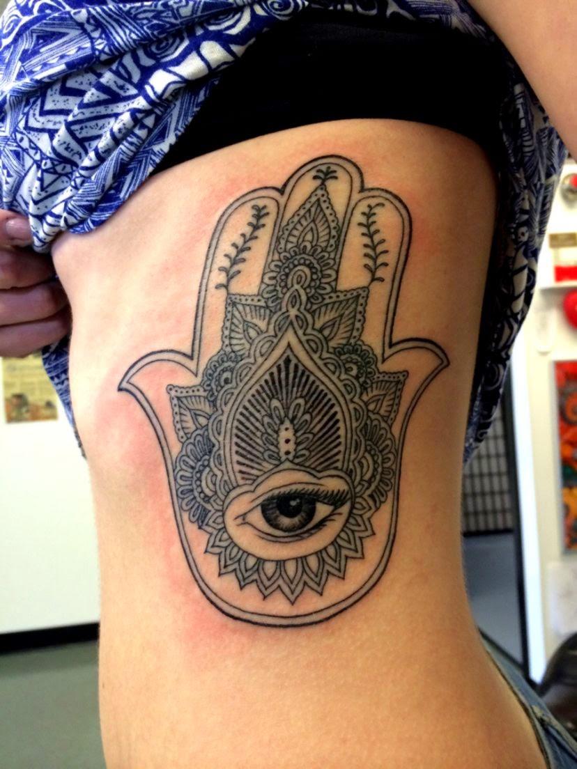 My Hamsa 31314 done by Chris Krahn at Krahnic Body Art Boise