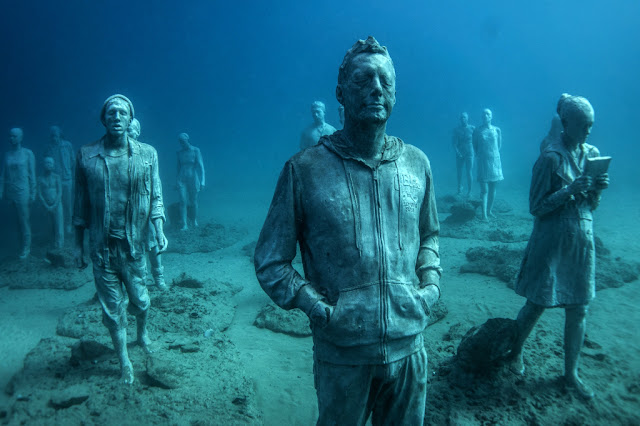 The Rubicon. Museo Atlantico in Lanzarote, Spain - by artist Jason deCaires Taylor