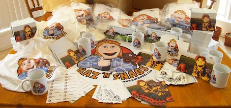 Get some awesome Baz 'n' Snags merch!