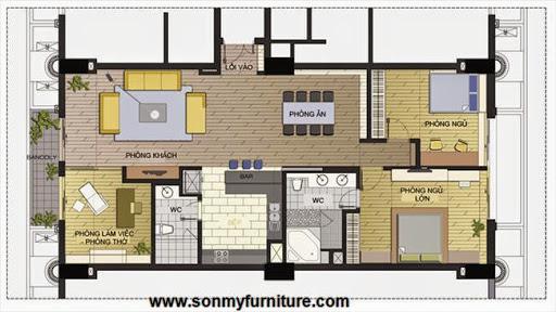 Bài trí đơn giản mà ấn tượng trong căn hộ 140m2-14