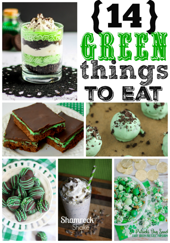 14 Green Things to Eat at GingerSnapCrafts.com #linkparty #features #stpatricksday