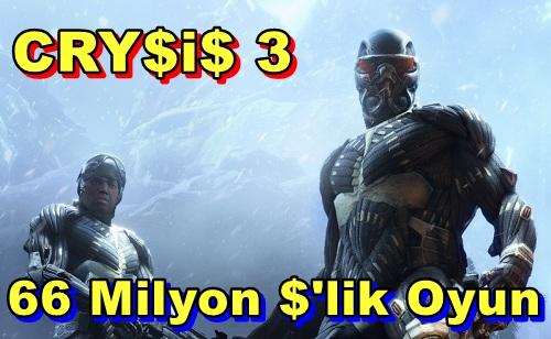 Crysis 3'ü Geliştirmek 66 Milyon Dolar'a Mal Olmuş!