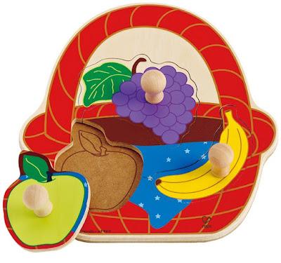 Hình ảnh mô hình đồ chơi Xếp hình giỏ trái cây Hape Fruit Basket Puzzle