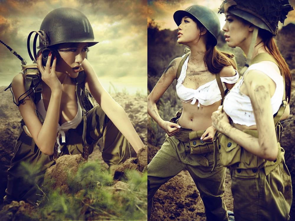 ảnh nữ lính