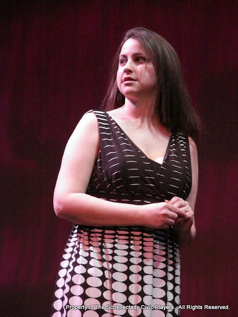 """Jennifer Van Iderstyne in """"English Made Simple"""" as part of THE IVES HAVE IT - January/February 2012.  Property of The Schenectady Civic Players Theater Archive."""