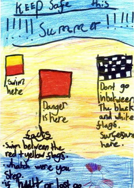 Sea safety poster - Stephanie
