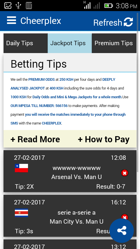 Betting Tips - Cheerplex- screenshot