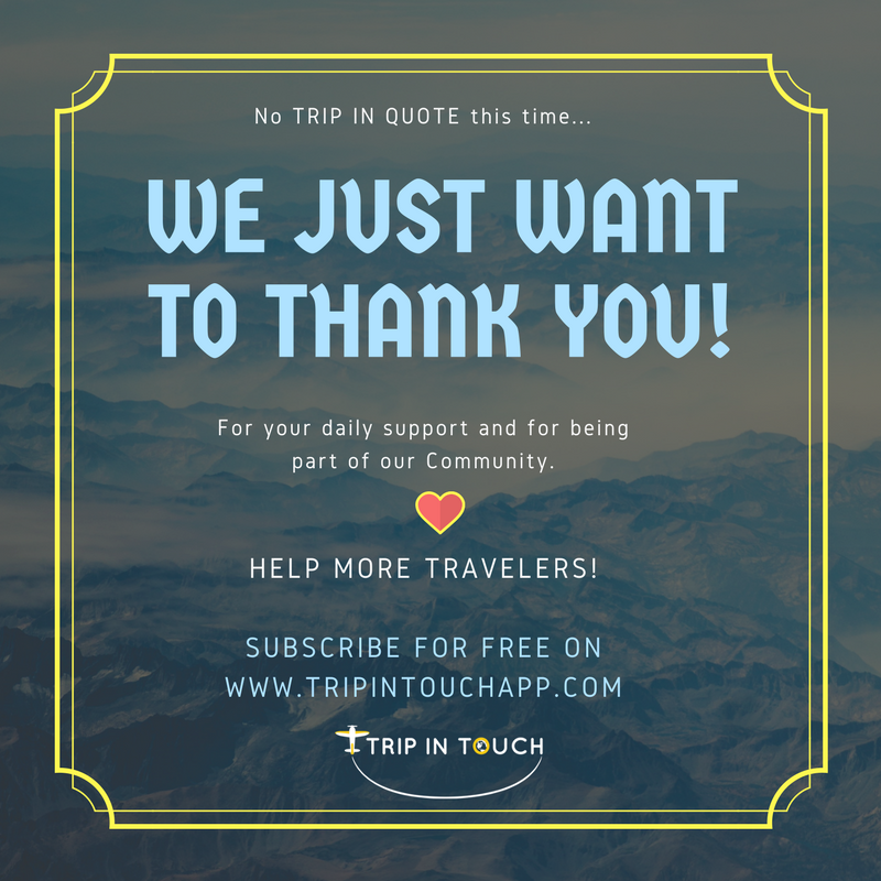 no particular reason thats it tripintouch thankyou travelbuddies