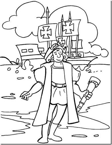 Dibujos para colorear Cristóbal Colón y las carabelas | Colorear ...