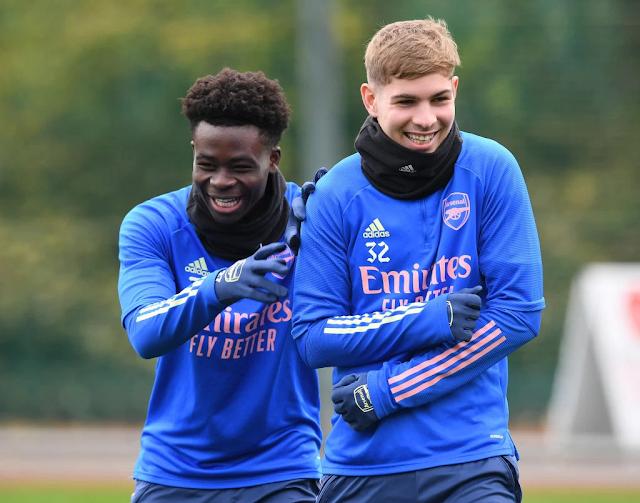 Arsenal provide Bukayo Saka and Smith Rowe injury updates for Liverpool