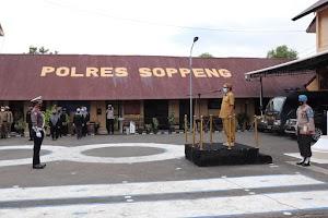 Polres Soppeng Laksanakan Apel Gelar Pasukan Ops Ketupat 2021
