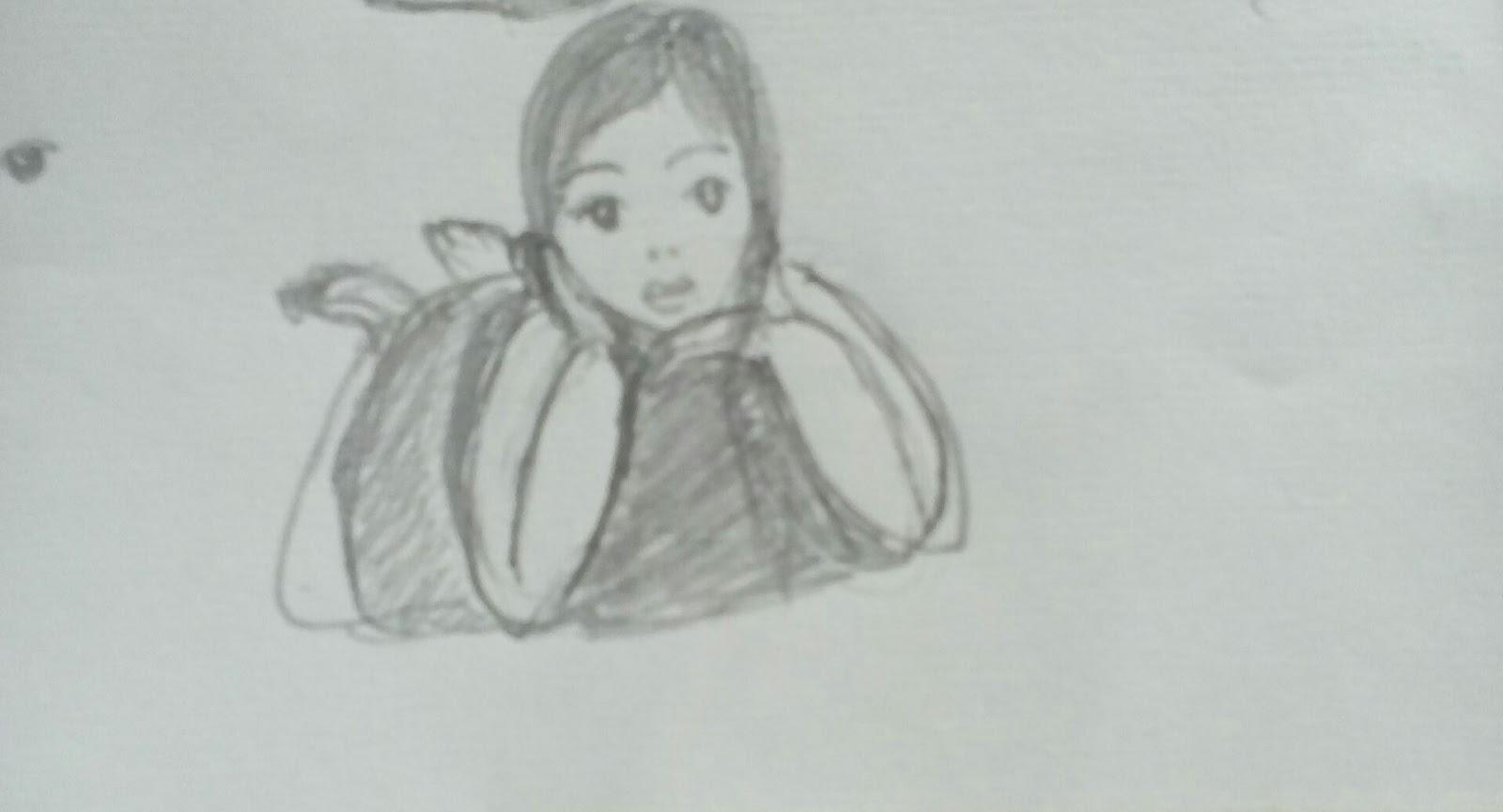 Baby girl pencil drawing pencil drawing