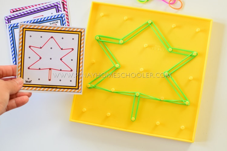 AUTUMN THEMED GEOBOARD TEMPLATES