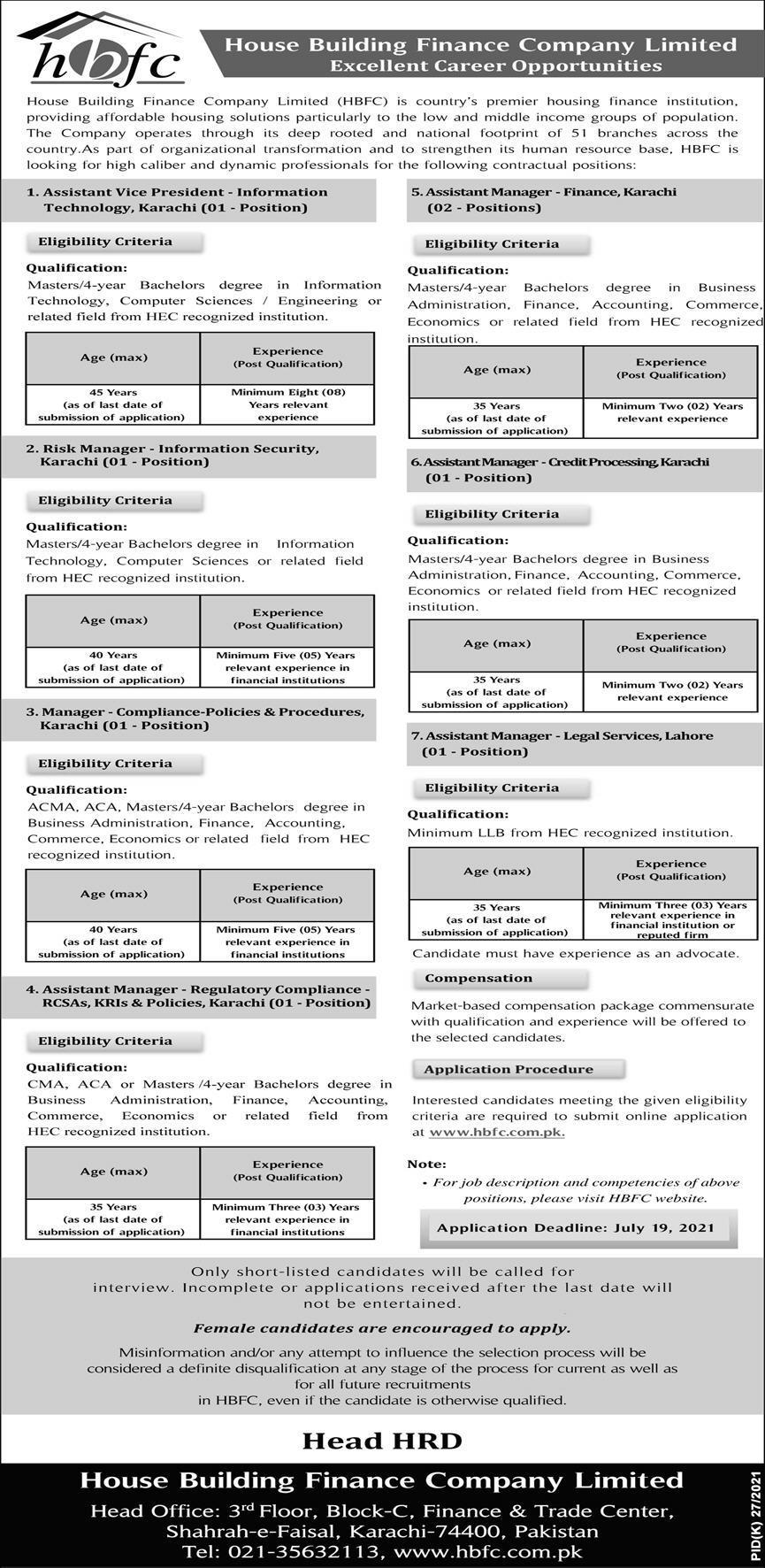 House Building Finance Company Jobs 2021