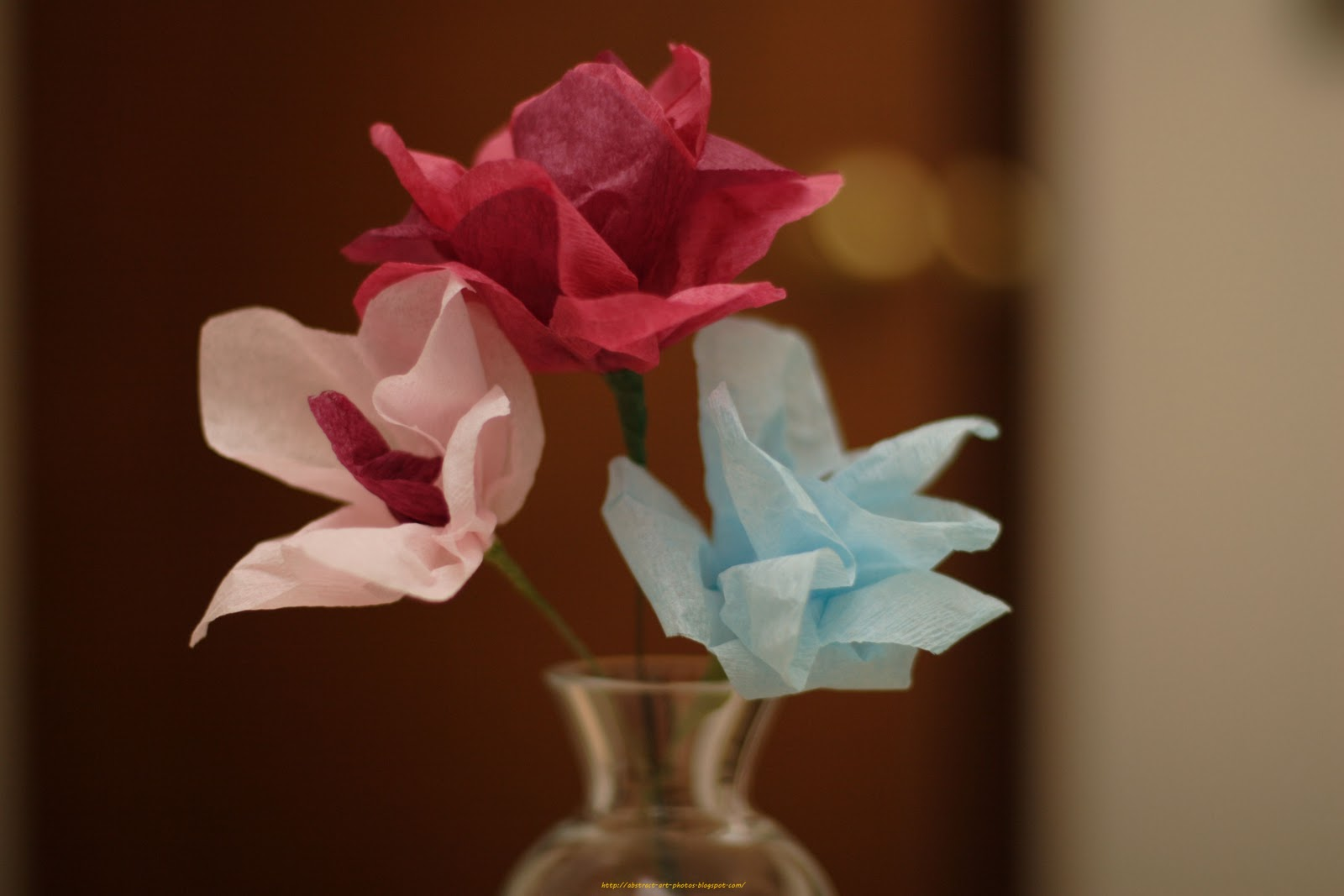 Abstract art pictures collection artificial paper flowers for Flowers made of glass