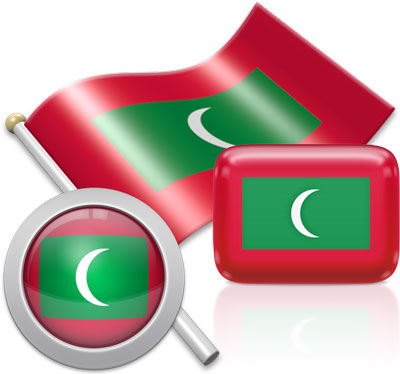 Maldivian flag icons pictures collection