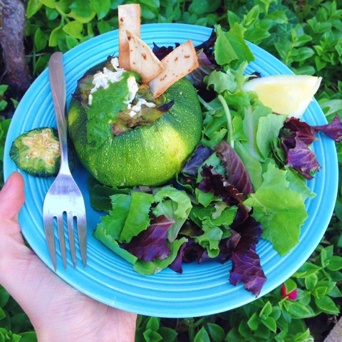 Stuffed Zucchini Boats or Balls (Gluten Free, Vegan)