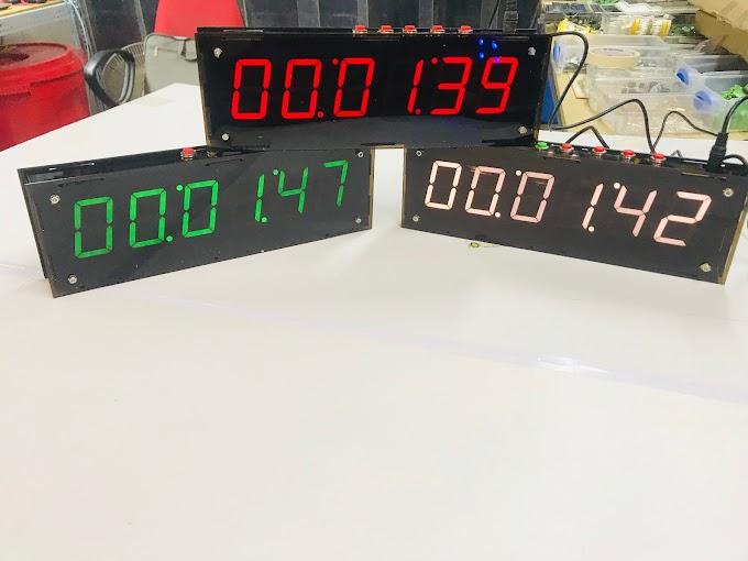 Đồng hồ led treo tường 6 số đếm ngược, bấm giây thể thao