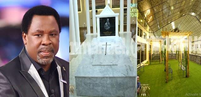 Photos Late T.B Joshua's magnificent Mausoleum that worth millions of Naira [Photos]