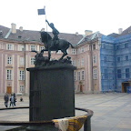 Estatua de San Jorge en el Castillo