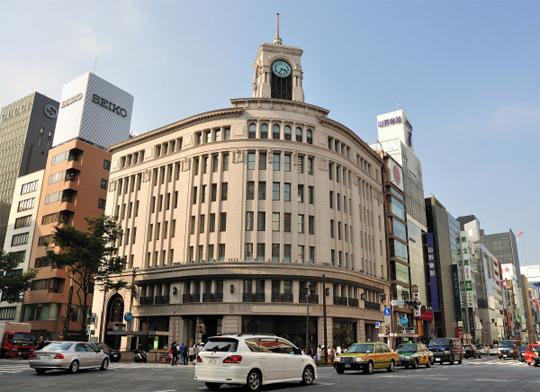 Barrio de Ginza en Tokyo