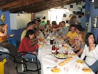 Comiendo paella en La Pezonería