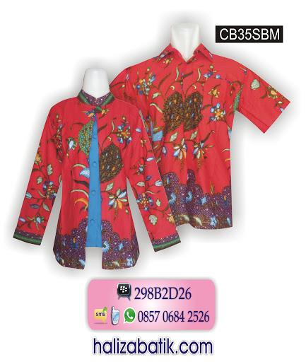 Grosir Baju, Desain Baju Batik Modern, Desain Baju Batik, CB35SBM