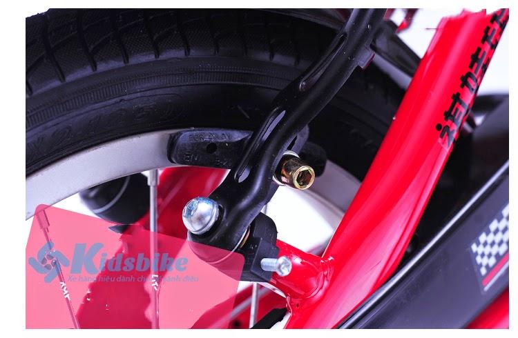 Xe đạp Stitch 904 màu trắng đỏ 1