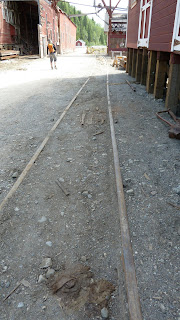 old rail bed detail