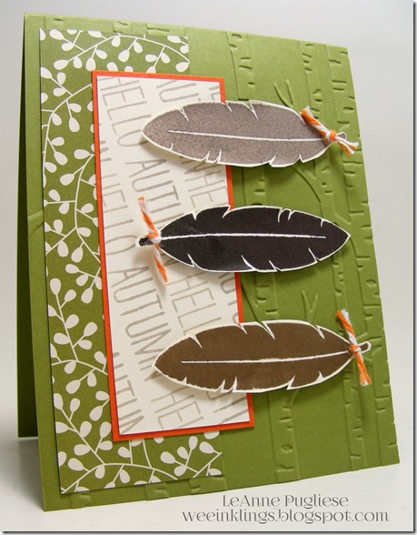 LeAnne Pugliese WeeInklings Autumn Cheer All Year Stampin Up