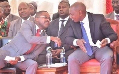 Deputy President William Ruto with Muranga Hovernor Mwangi was Iria