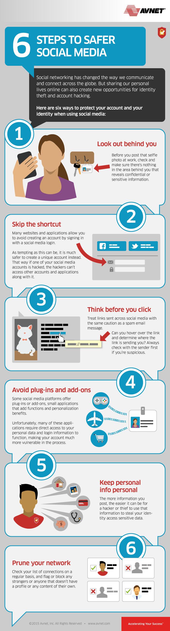 6 pasos para mantenerte seguro en medios sociales