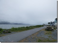 Seward Waterfront Park on a rainy, cloudy, icky day