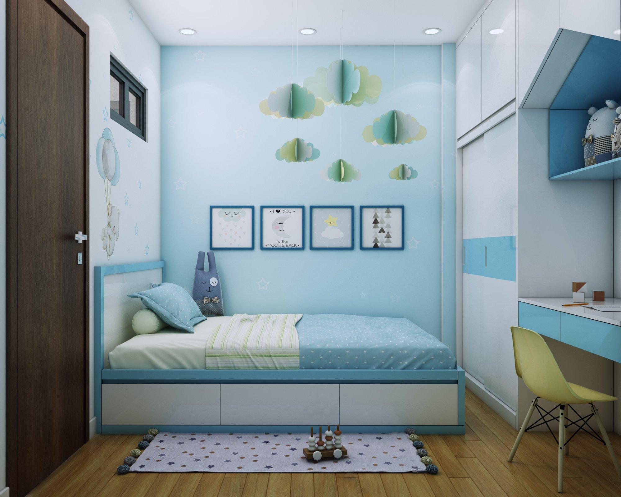 Nội thất phòng ngủ nhỏ Bcons Suối Tiên